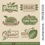 organic natural food labels and ... | Shutterstock .eps vector #789281020