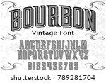 font alphabet script typeface... | Shutterstock .eps vector #789281704
