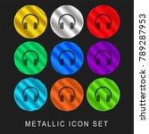 headphones 9 color metallic... | Shutterstock .eps vector #789287953
