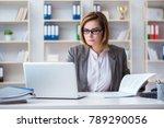businesswoman working in the... | Shutterstock . vector #789290056