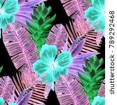 watercolor seamless pattern... | Shutterstock . vector #789292468
