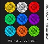 hair salon badge 9 color... | Shutterstock .eps vector #789297700