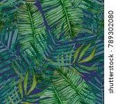 watercolor seamless pattern... | Shutterstock . vector #789302080