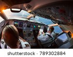 the pilots of the passenger... | Shutterstock . vector #789302884