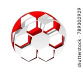 soccer ball sign. vector.... | Shutterstock .eps vector #789302929