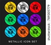 cube 9 color metallic chromium... | Shutterstock .eps vector #789305779