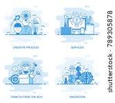 modern flat color line concept... | Shutterstock .eps vector #789305878