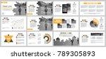 business presentation slides... | Shutterstock .eps vector #789305893