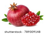 fresh pomegranate isolated on... | Shutterstock . vector #789309148