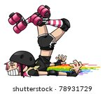 derby girl wipeout | Shutterstock .eps vector #78931729