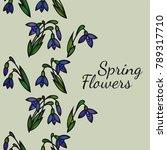 seamless vertical floral... | Shutterstock .eps vector #789317710