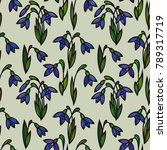 floral seamless pattern.... | Shutterstock .eps vector #789317719