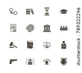 law justice icons. perfect... | Shutterstock .eps vector #789322246