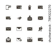 mail icons. perfect black... | Shutterstock .eps vector #789322270