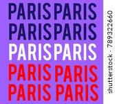 paris in purple | Shutterstock .eps vector #789322660