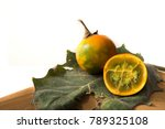 lulo fruits placed on a lulo... | Shutterstock . vector #789325108