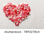 valentines day candy heart made ... | Shutterstock . vector #789327814
