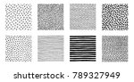 irregular hand drawn patterns... | Shutterstock .eps vector #789327949