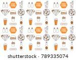 fast food  street food... | Shutterstock .eps vector #789335074