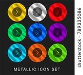 right arrow 9 color metallic... | Shutterstock .eps vector #789335086