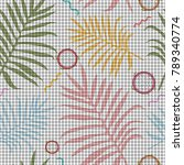 tropical memphis seamless...   Shutterstock .eps vector #789340774