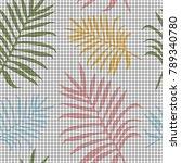 tropical memphis seamless...   Shutterstock .eps vector #789340780
