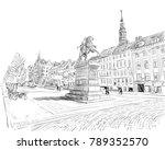 copenhagen. denmark. europe.... | Shutterstock .eps vector #789352570