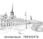 bursen. copenhagen. denmark.... | Shutterstock .eps vector #789352576