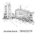 copenhagen. denmark. europe.... | Shutterstock .eps vector #789352579