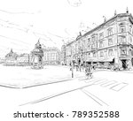 copenhagen. denmark. europe.... | Shutterstock .eps vector #789352588