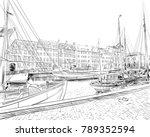 copenhagen. denmark. europe....   Shutterstock .eps vector #789352594