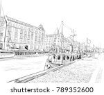 copenhagen. denmark. europe.... | Shutterstock .eps vector #789352600