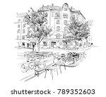 copenhagen. denmark. europe.... | Shutterstock .eps vector #789352603