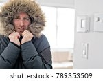man with warm clothing feeling... | Shutterstock . vector #789353509