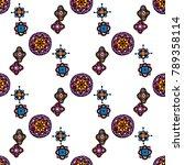 original mosaic drawing tribal... | Shutterstock .eps vector #789358114