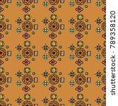 original mosaic drawing tribal... | Shutterstock .eps vector #789358120