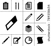 pencil icons. set of 13... | Shutterstock .eps vector #789358654