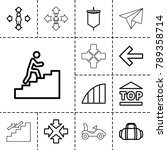 move icons. set of 13 editable... | Shutterstock .eps vector #789358714