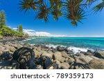 burleigh heads on a clear day... | Shutterstock . vector #789359173