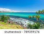 burleigh heads on a clear day... | Shutterstock . vector #789359176