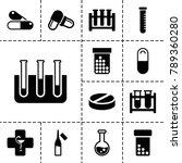 pharmaceutical icons. set of 13 ... | Shutterstock .eps vector #789360280