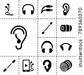 ear icons. set of 13 editable... | Shutterstock .eps vector #789360370