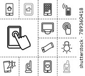 smartphone icons. set of 13... | Shutterstock .eps vector #789360418