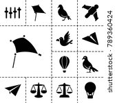 freedom icons. set of 13... | Shutterstock .eps vector #789360424