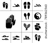pair icons. set of 13 editable... | Shutterstock .eps vector #789362560