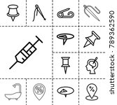 needle icons. set of 13... | Shutterstock .eps vector #789362590