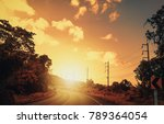 country road in the thailand   Shutterstock . vector #789364054