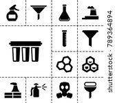 chemical icons. set of 13... | Shutterstock .eps vector #789364894