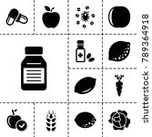 vitamin icons. set of 13... | Shutterstock .eps vector #789364918