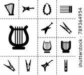 string icons. set of 13... | Shutterstock .eps vector #789364954